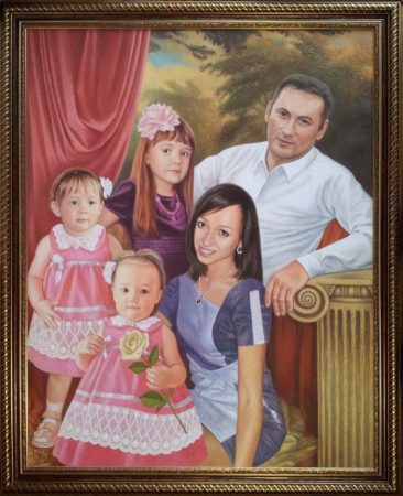 Семейный портрет маслом в Нижневартовске — правильная традиция…