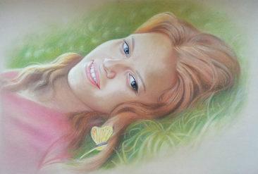 Настоящий портрет пастелью для любимой девушки в Нижневартовске, просто и со вкусом!