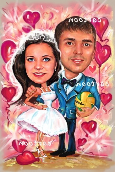 Свадебный шарж с оригинальным сюжетом в Нижневартовске!