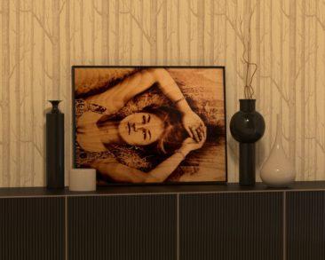 Портрет на дереве на заказ для девушки, с теплом и любовью…