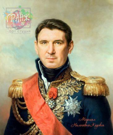 Портрет по фото на холсте в подарок мужчине на 23 февраля Нижневартовск