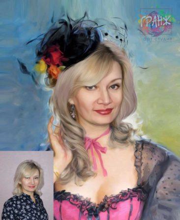 Заказать арт портрет по фото на холсте в Нижневартовске