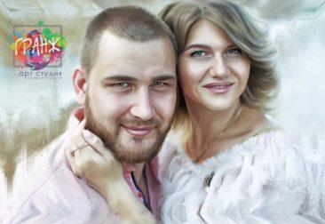 Где заказать портрет по фотографии на холсте в Нижневартовске?