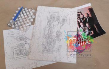 Картина по номерам по фото, портреты на холсте и дереве в Нижневартовске
